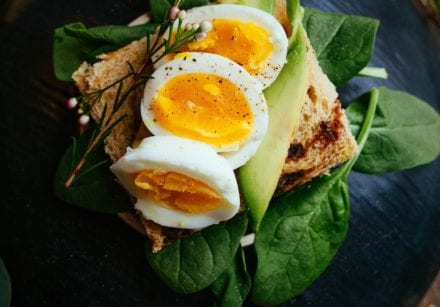 Food for your health: egg and avocado sandwich