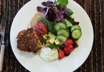 Mediterranean style lunch